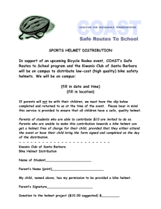 Helmet Distribution Flyer