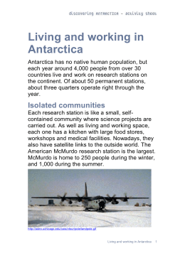 06 - Living and working in Antarctica