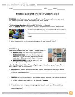 4th Grade Rocks & Minerals Study Guide