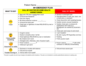 Faith Based Nurse Emergency Plan Zone Tool