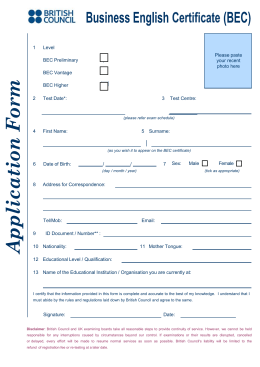 Microsoft Word - BEC Appl Form 2010