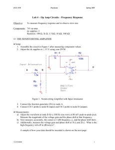 Lab 4 - Op Amp Circuits -