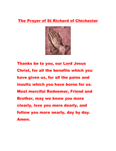 The Prayer of St Richard of Chichester