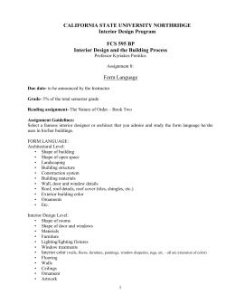 Assignment 8: Form Language