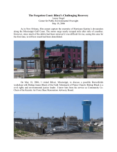 Biloxi`s Challenging Recovery - Center For Public Environmental