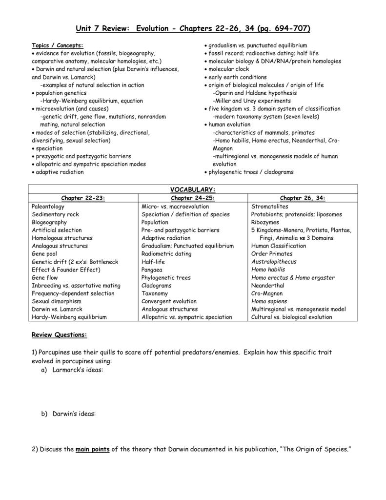 Worksheet Evolution Vocabulary Worksheet Grass Fedjp