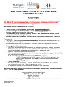 Amendment Request Form