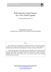 Reforming the United Nations for a New Global Agenda - UN-NGLS