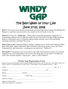 Summer Camp 2006 Windy Gap Sign Up Form