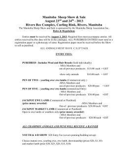 Show & Sale Rules - Manitoba Sheep Association