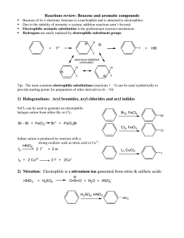 Reactions to functionalize benzene