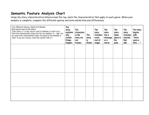 Genre -Semantic Feature Analysis Chart