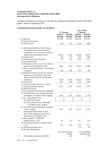 consolidated income statement