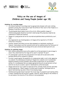 Image Policy - Chelmsfordians
