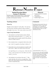 Rational Number Project