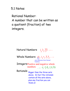 5.1 Notes Rational Number