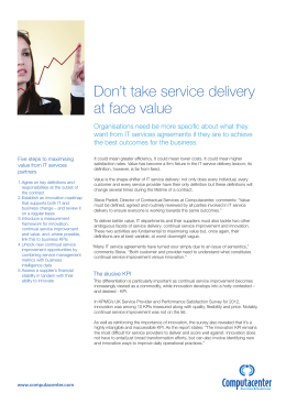 Don`t take service delivery at face value