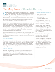 The Many Faces of Canada`s Currency
