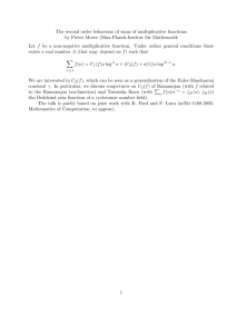 The second order behaviour of sums of multiplicative functions by