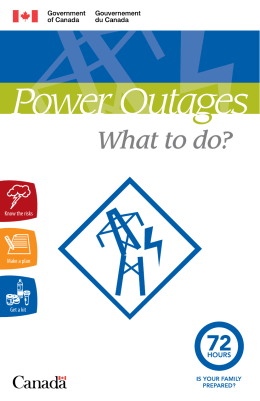 Power Outages — What to do?