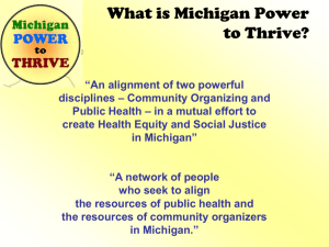 What is Michigan Power to Thrive?