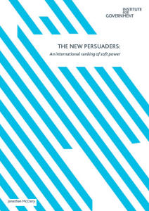 The New Persuaders: An international ranking of soft power
