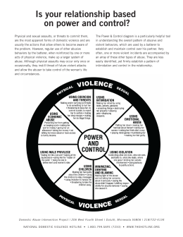 Power and Control Wheel - National Domestic Violence Hotline