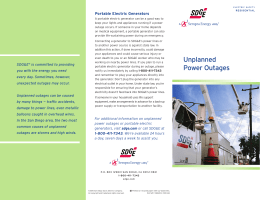 Unplanned Power Outages - San Diego Gas & Electric