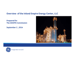 Overview of the Inland Empire Energy Center, LLC