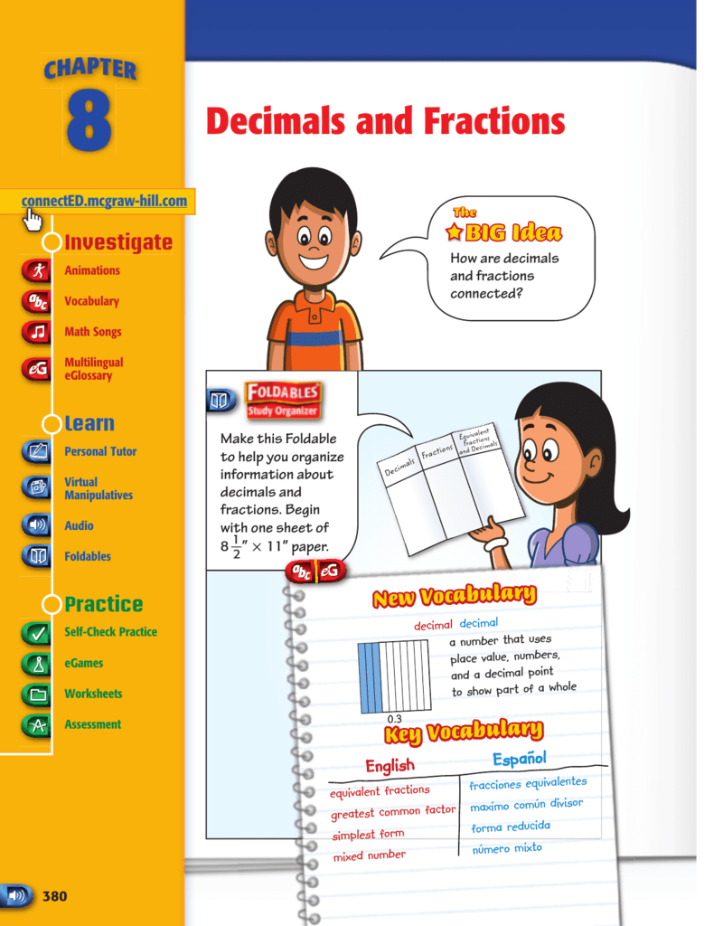Decimals and Fractions - Macmillan/McGraw-Hill