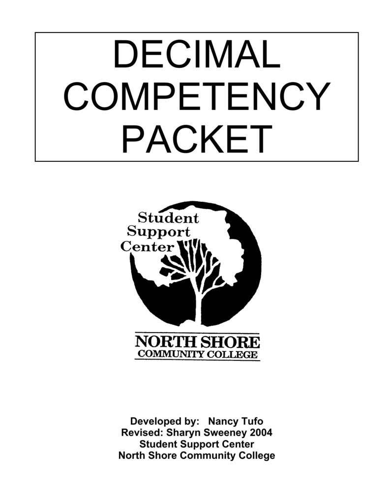 Decimal Competency Packet