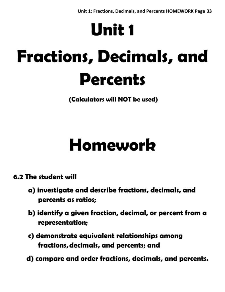 Homework help writing fractions as decimals