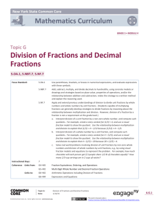 Division of Fractions and Decimal Fractions