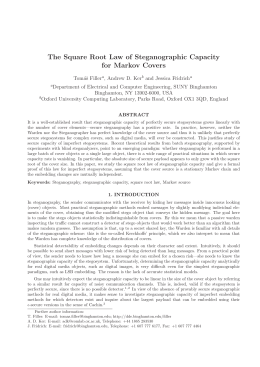 The Square Root Law of Steganographic Capacity for