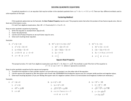 Solve By Factoring Bonus Problem This Page As A With Key