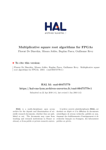 Multiplicative square root algorithms for FPGAs - HAL