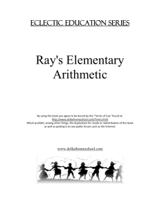 Ray`s Elementary Arithmetic