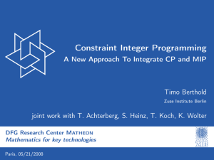 Constraint Integer Programming - A New Approach To