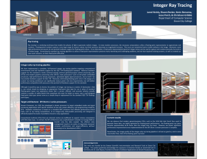 Integer Ray Tracing - Grove City College
