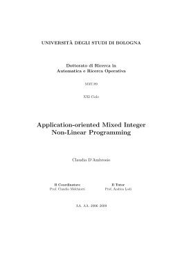 Application-oriented Mixed Integer Non-Linear Programming