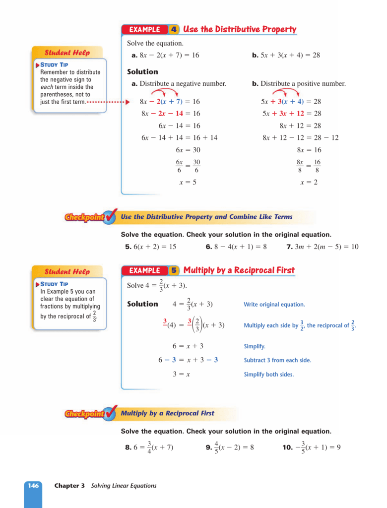 5 Multiply By A Reciprocal First 4 Use The Distributive Property