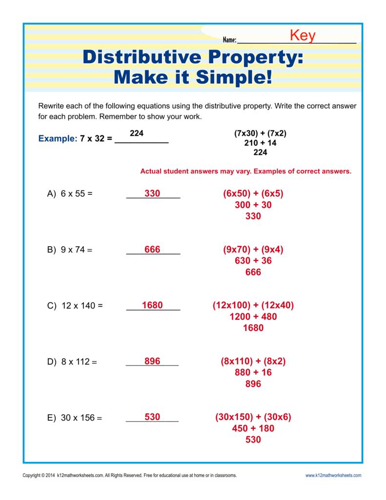 Distributive Property: Make It Simple! | 3rd Grade Math ...