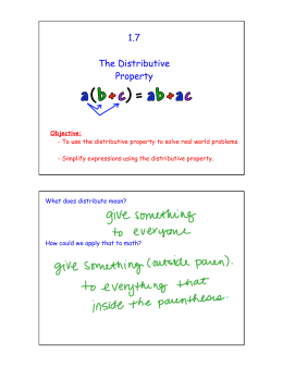 1.7 The Distributive Property