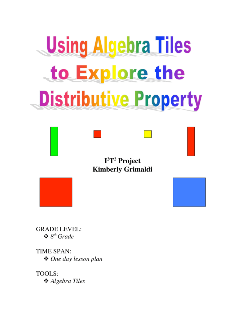 photo relating to Algebra Tiles Printable named Getting Algebra Tiles toward Investigate the Distributive Household