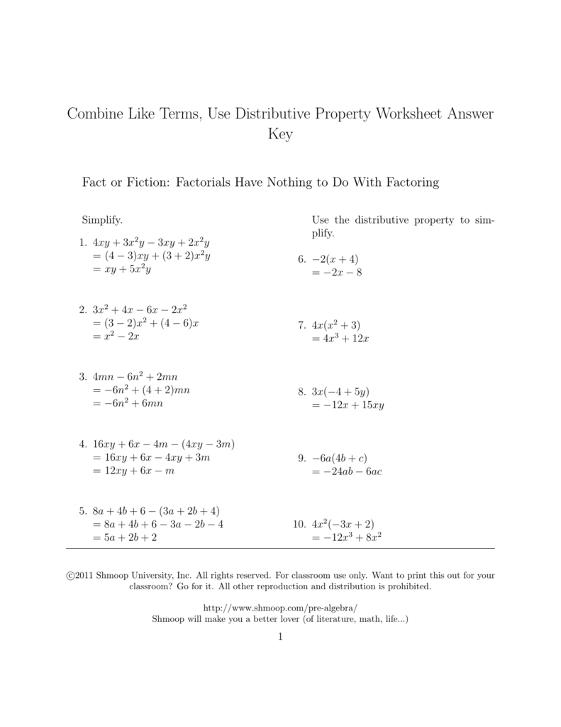 worksheet Distributive Property And Combining Like Terms Worksheet combine like terms use distributive property worksheet