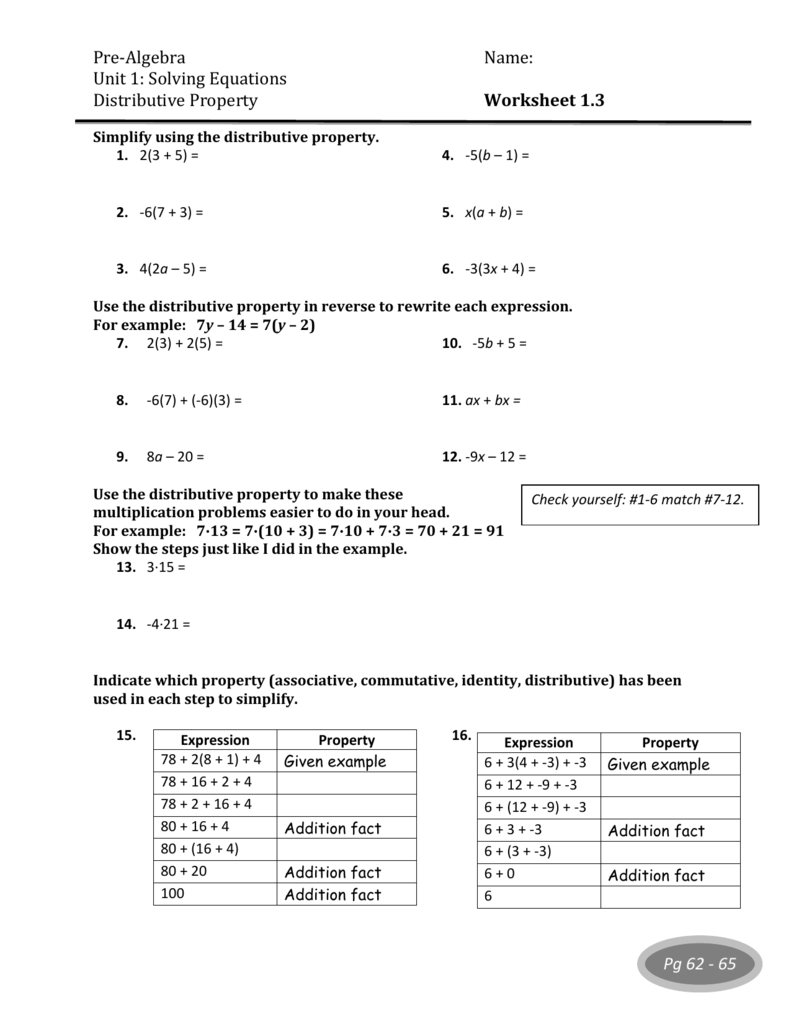 also  furthermore grade 3 distributive property worksheets additionally Concept 10  Solving Equations in addition Pre Alge Name  Unit 1  Solving Equations Distributive Property likewise  additionally Distributive Property Free Worksheets – harddance info together with 2 Step Equations Worksheet Awesome Grade Math Worksheets Of as well Worksheets For Distributive Property Worksheets Distributive further pre alge solve for x worksheets furthermore Distributive Property Worksheets  Simplify in addition  additionally  additionally  additionally Distributive Property Worksheets   Homedressage in addition basic math properties worksheets. on distributive property solving equations worksheet