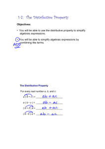 1-7: The Distributive Property