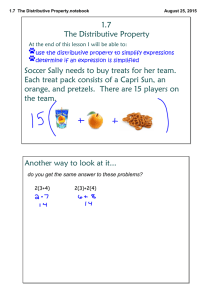 1.7 The Distributive Property.notebook