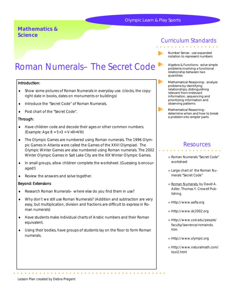 Roman numerals the secret code 0079308101 7f4f5ad5200c7c02e65cd0f997b5aec0g ibookread PDF