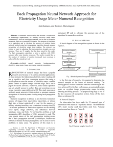 Back Propagation Neural Network Approach for Electricity Usage